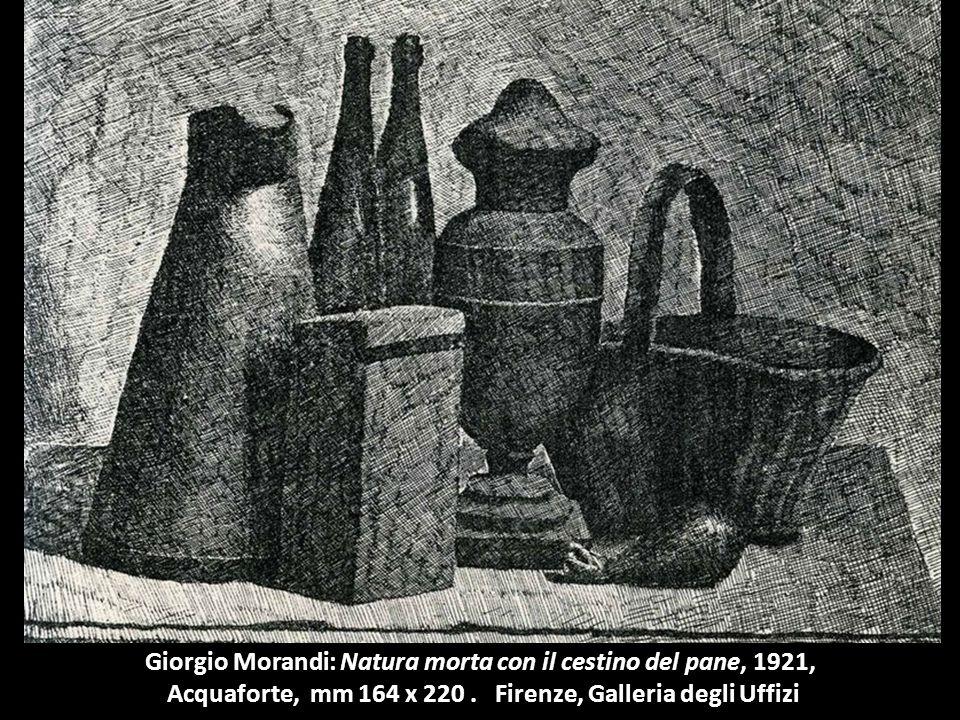 Giorgio Morandi: Natura morta con il cestino del pane, 1921,