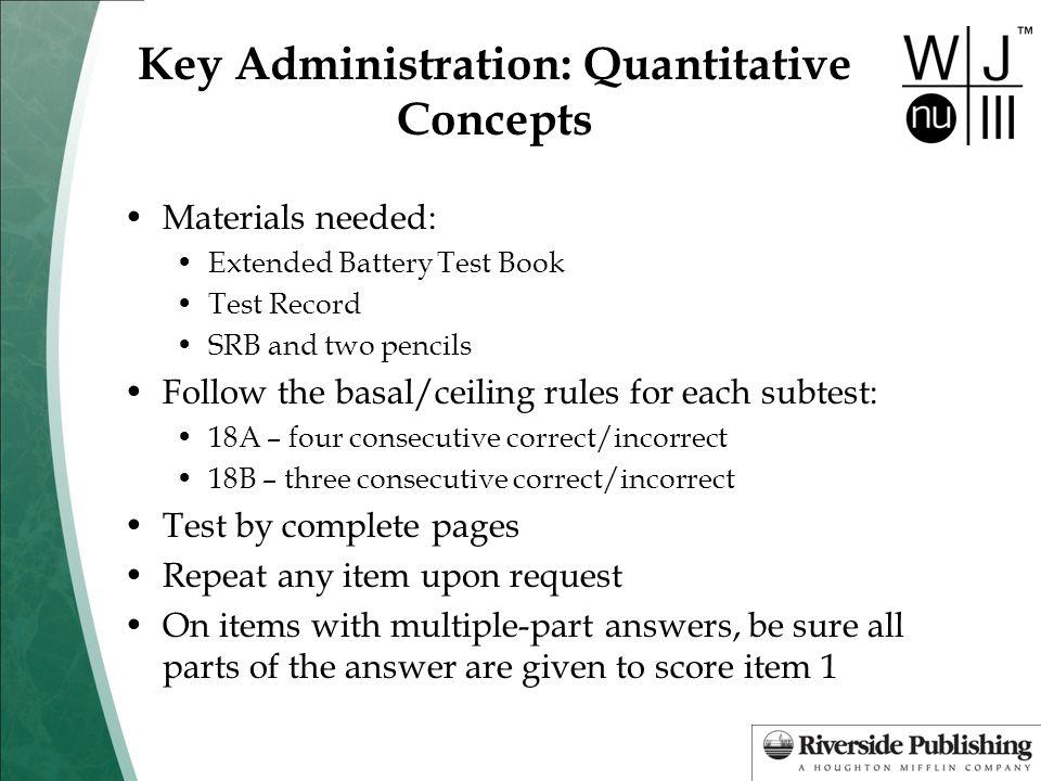 Key Administration: Quantitative Concepts