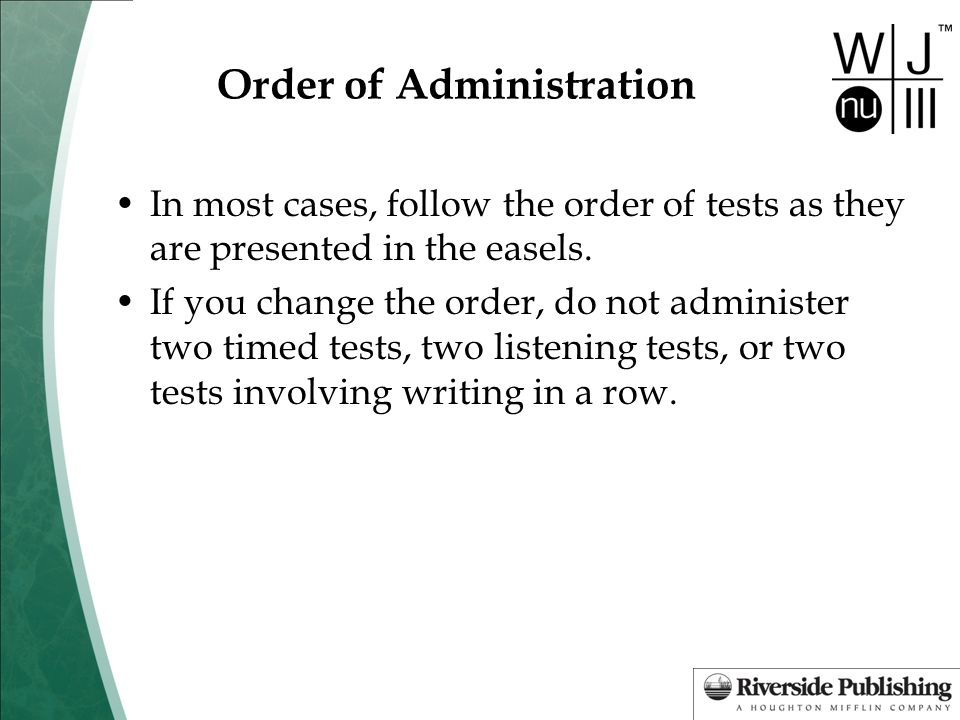 Order of Administration