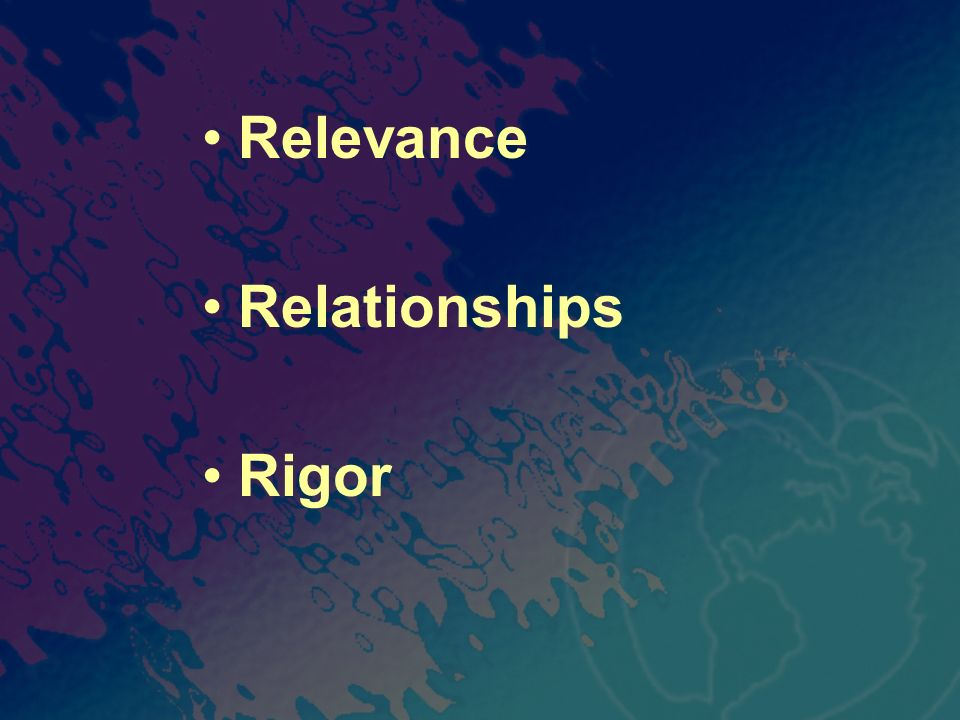Relevance Relationships Rigor