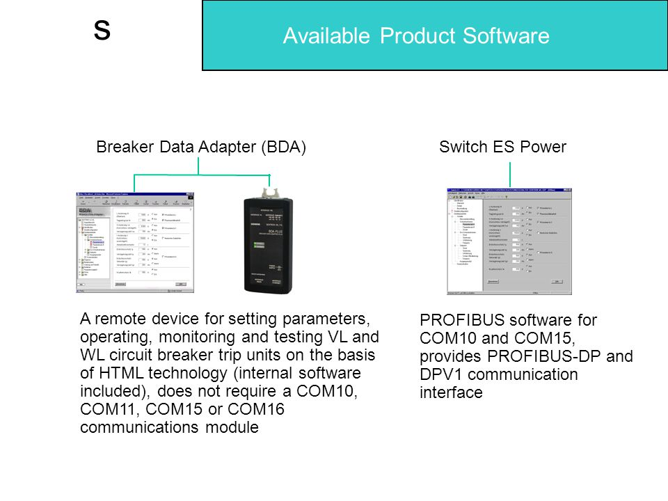 Available Product Software