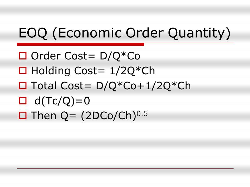 EOQ (Economic Order Quantity)