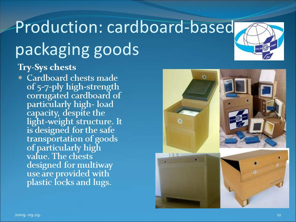 Production: cardboard-based packaging goods
