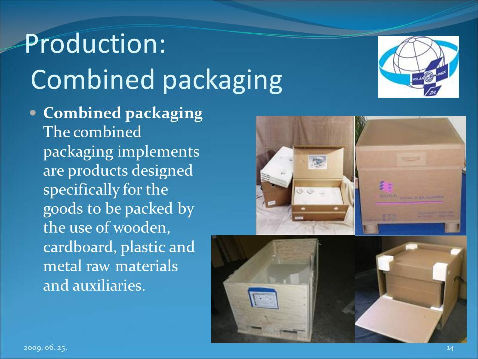Production: Combined packaging