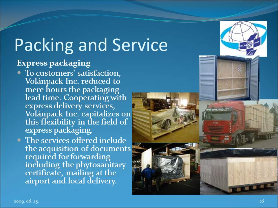 Packing and Service Express packaging