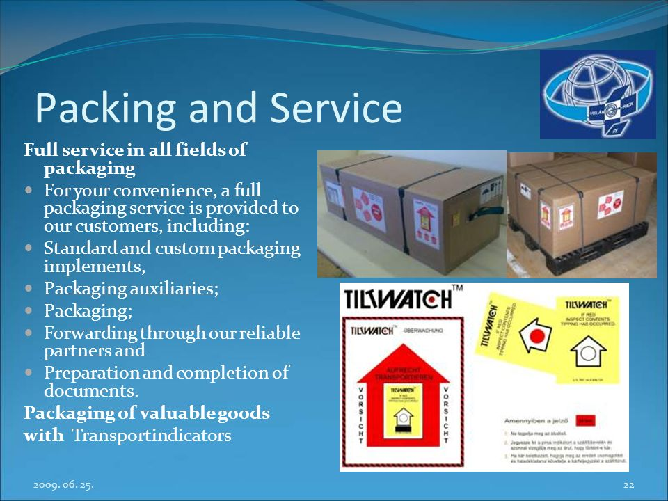 Packing and Service Full service in all fields of packaging