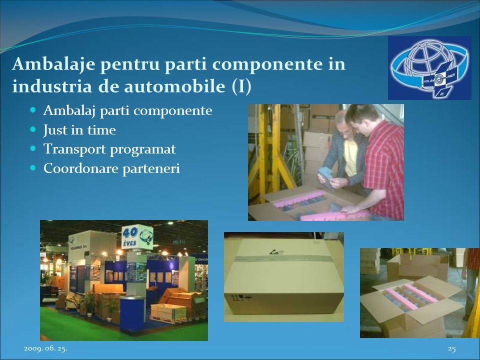 Ambalaje pentru parti componente in industria de automobile (I)