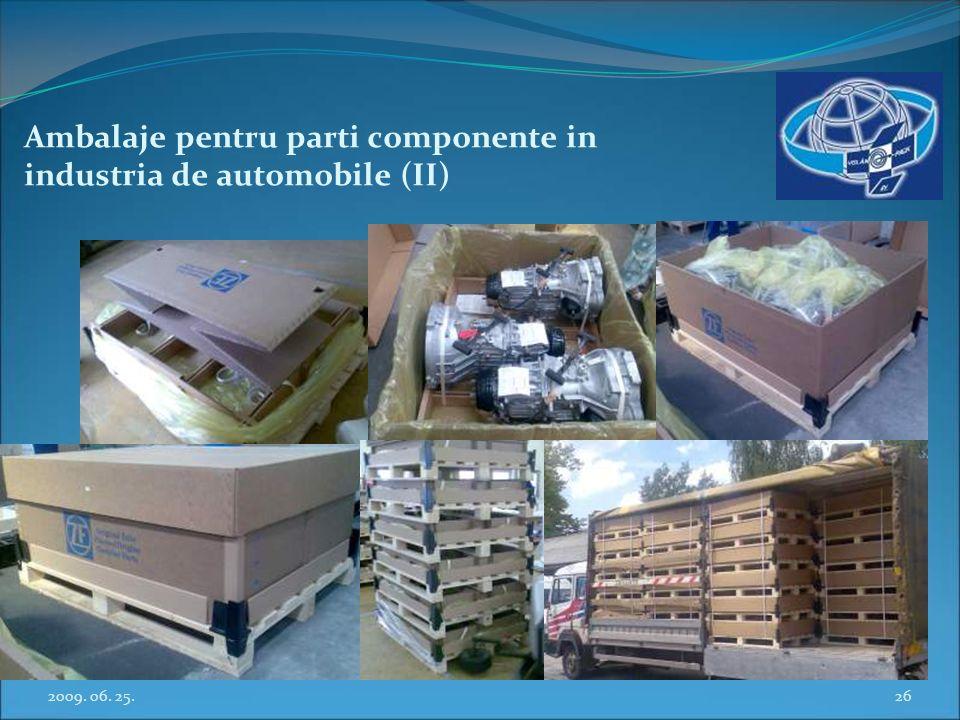 Ambalaje pentru parti componente in industria de automobile (II)