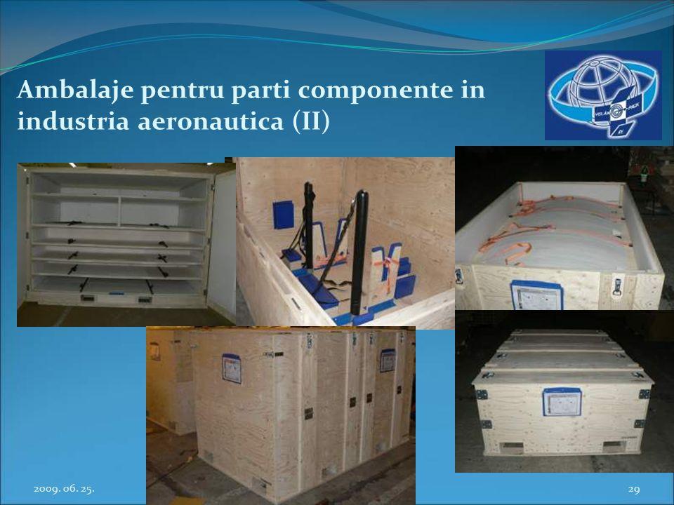 Ambalaje pentru parti componente in industria aeronautica (II)