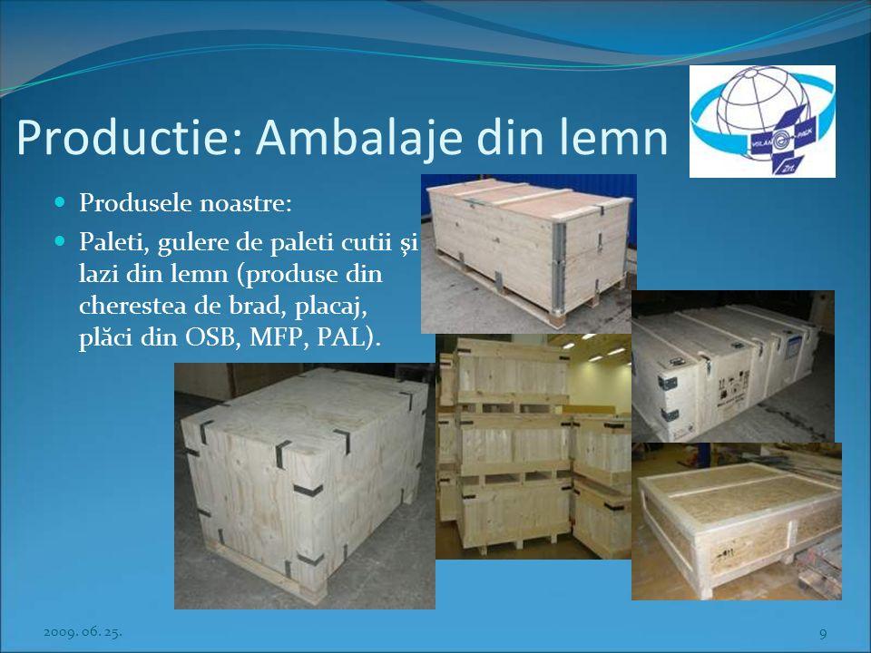 Productie: Ambalaje din lemn