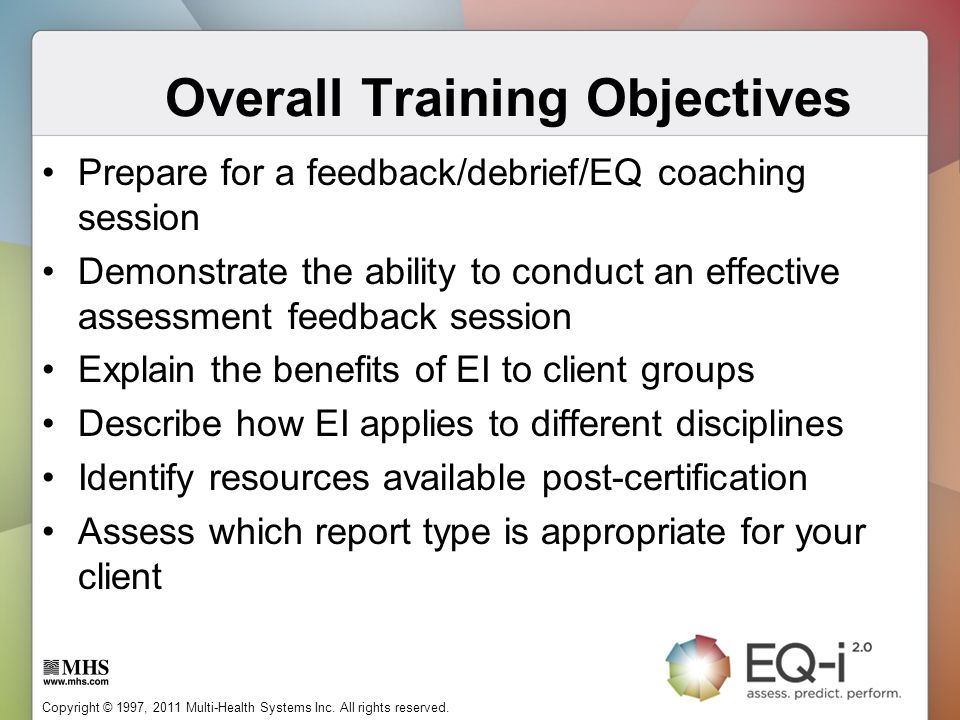 Overall Training Objectives