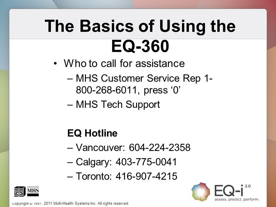 The Basics of Using the EQ-360