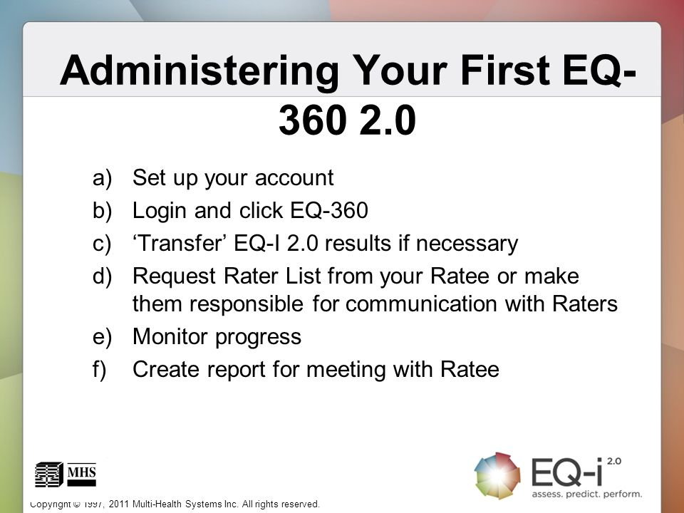 Administering Your First EQ