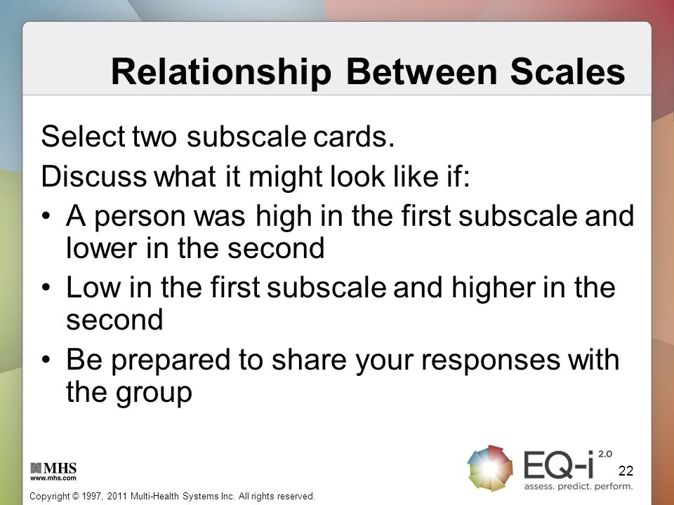 Relationship Between Scales