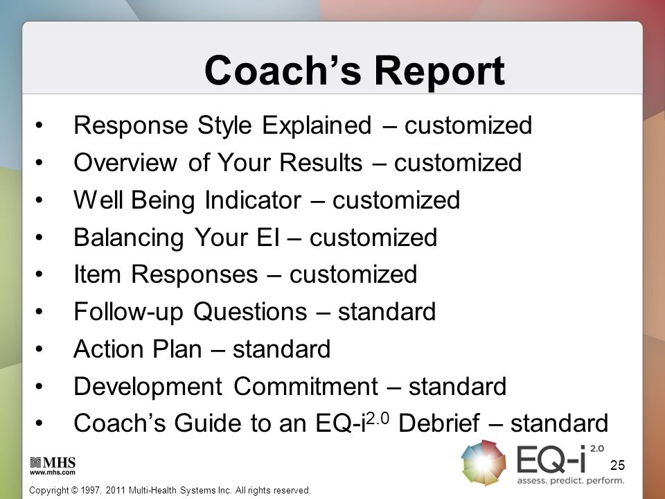 Coach's Report Response Style Explained – customized