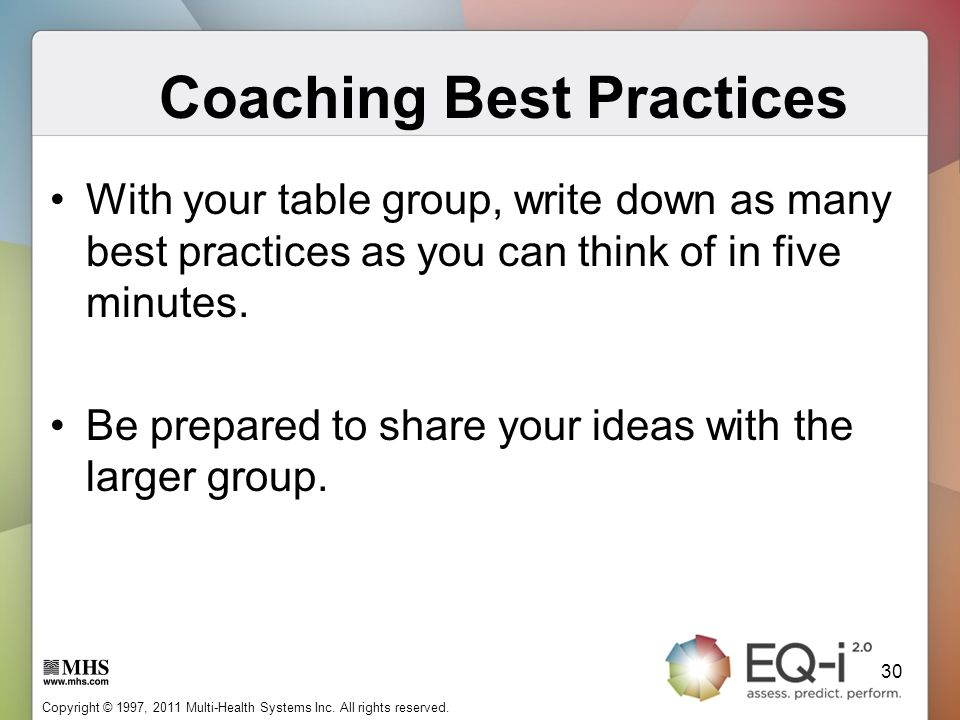 Coaching Best Practices