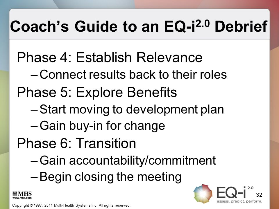 Coach's Guide to an EQ-i2.0 Debrief