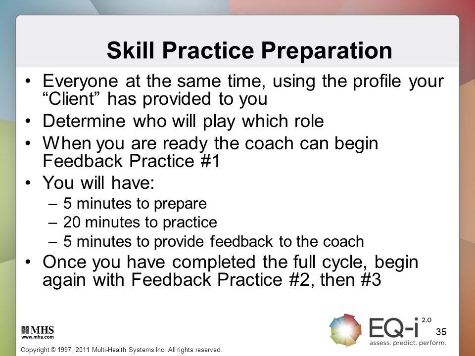 Skill Practice Preparation