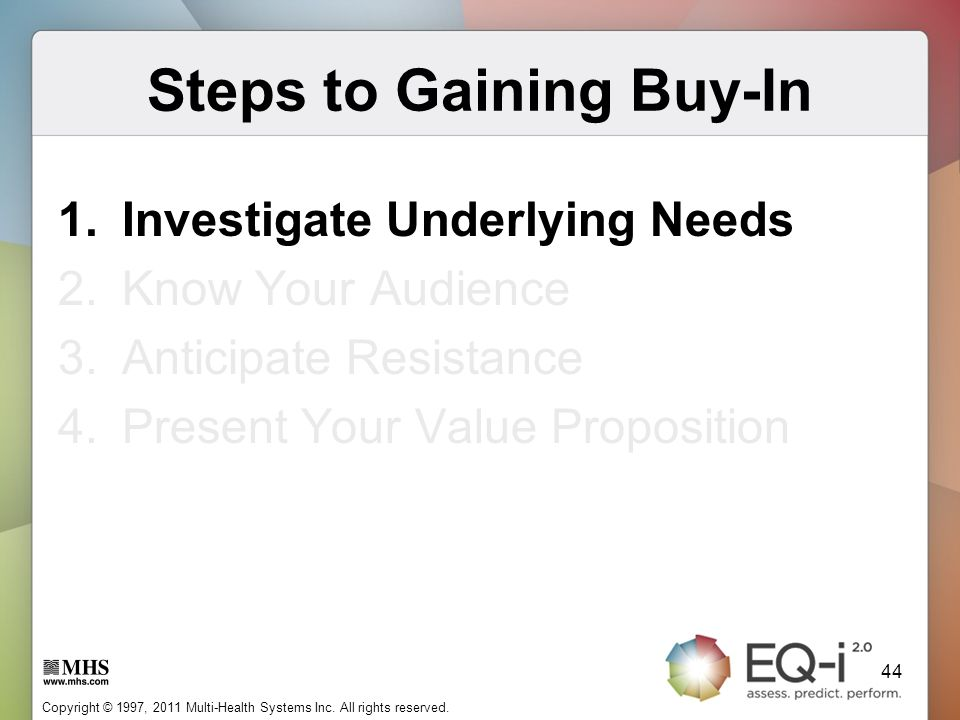 Steps to Gaining Buy-In
