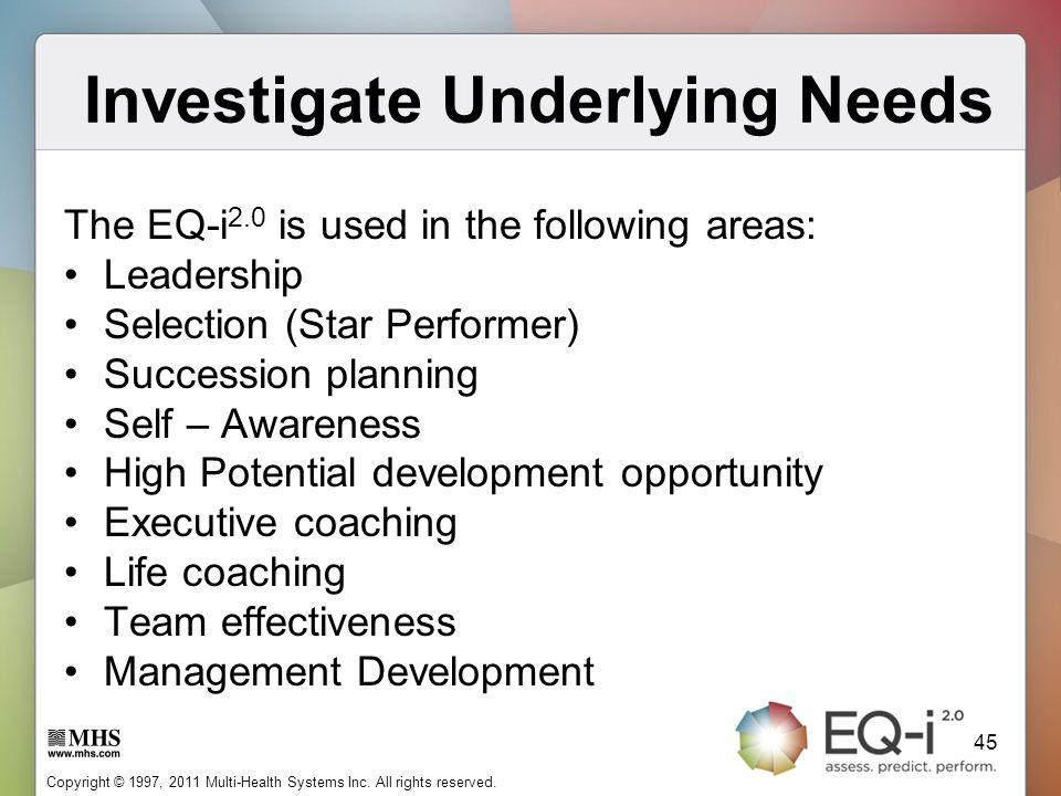 Investigate Underlying Needs