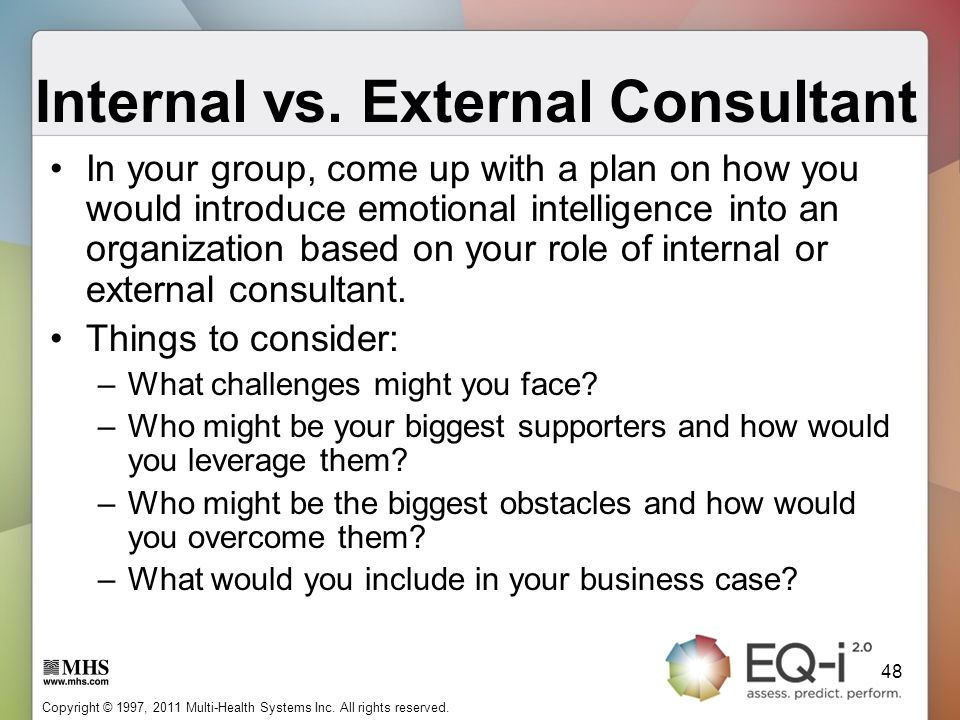 Internal vs. External Consultant