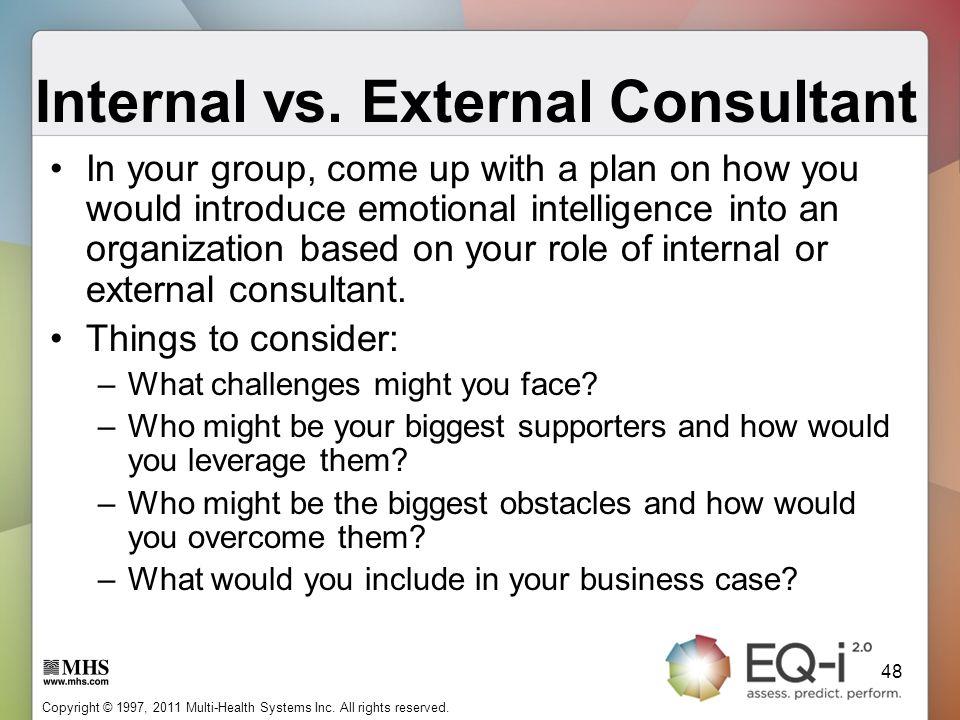 Internal vs. External Consultant