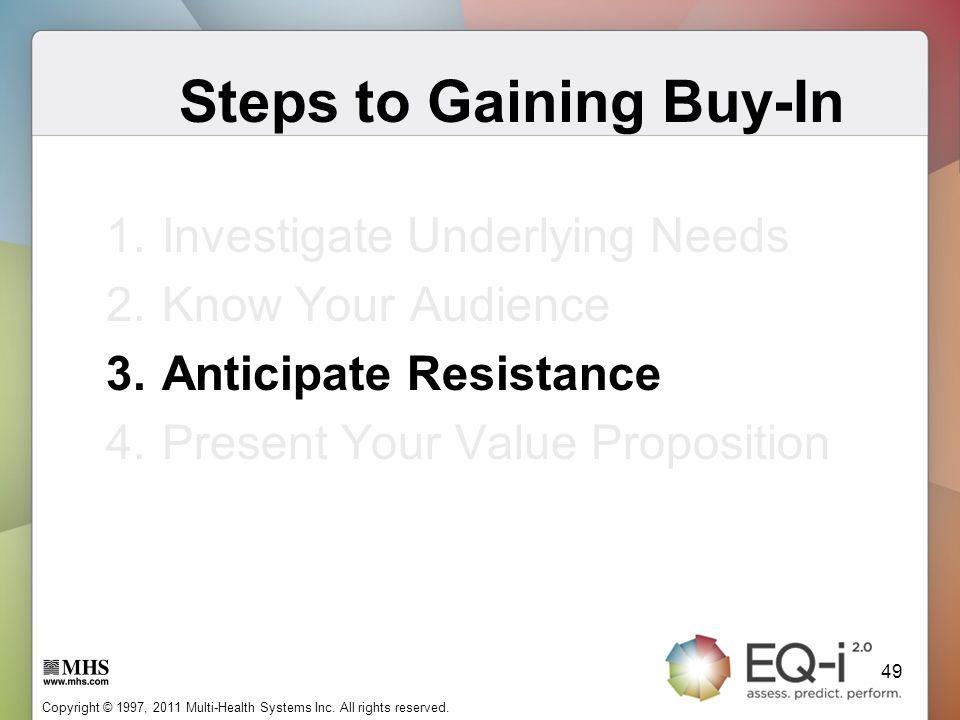 Steps to Gaining Buy-In