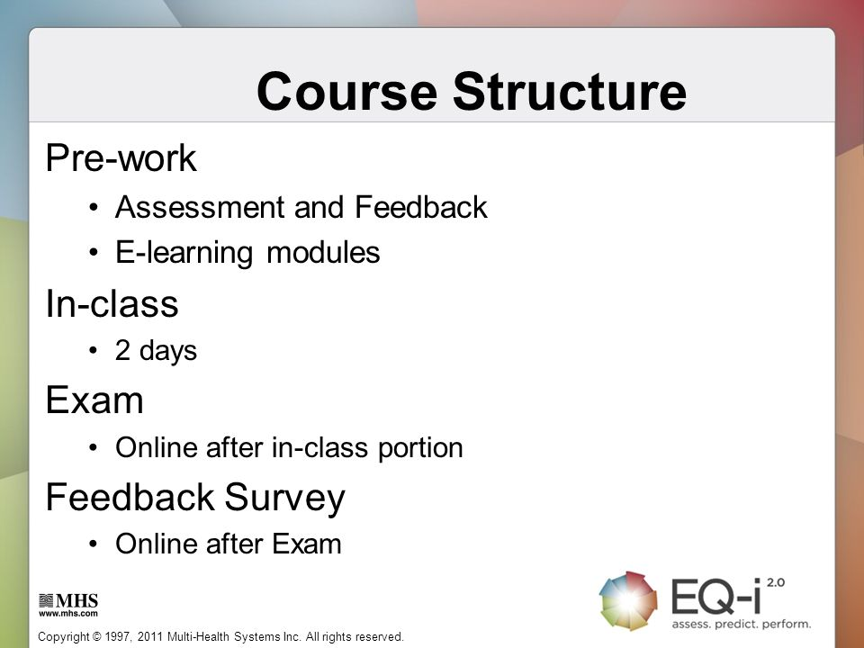 Course Structure Pre-work In-class Exam Feedback Survey