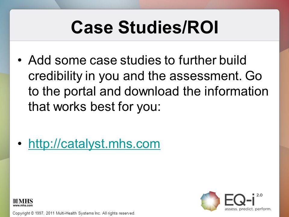 Case Studies/ROI