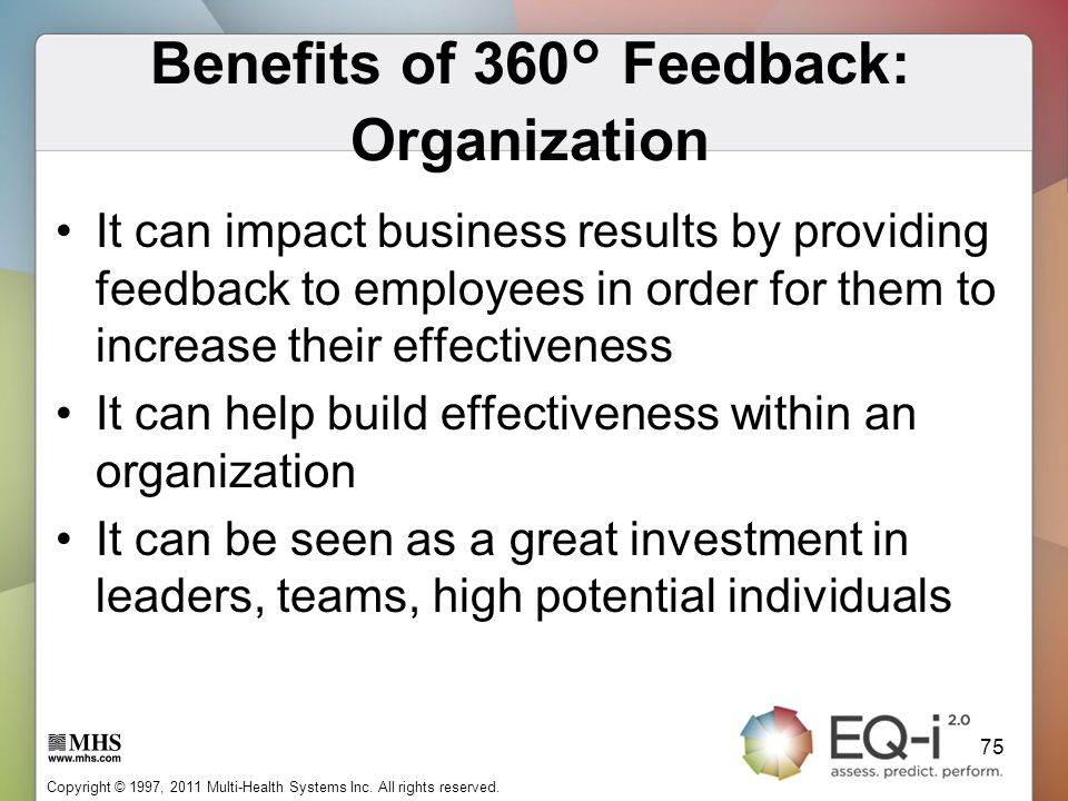 Benefits of 360° Feedback: Organization