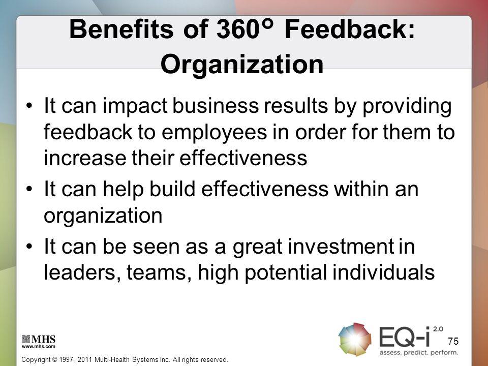 Benefits of 360° Feedback: Organization