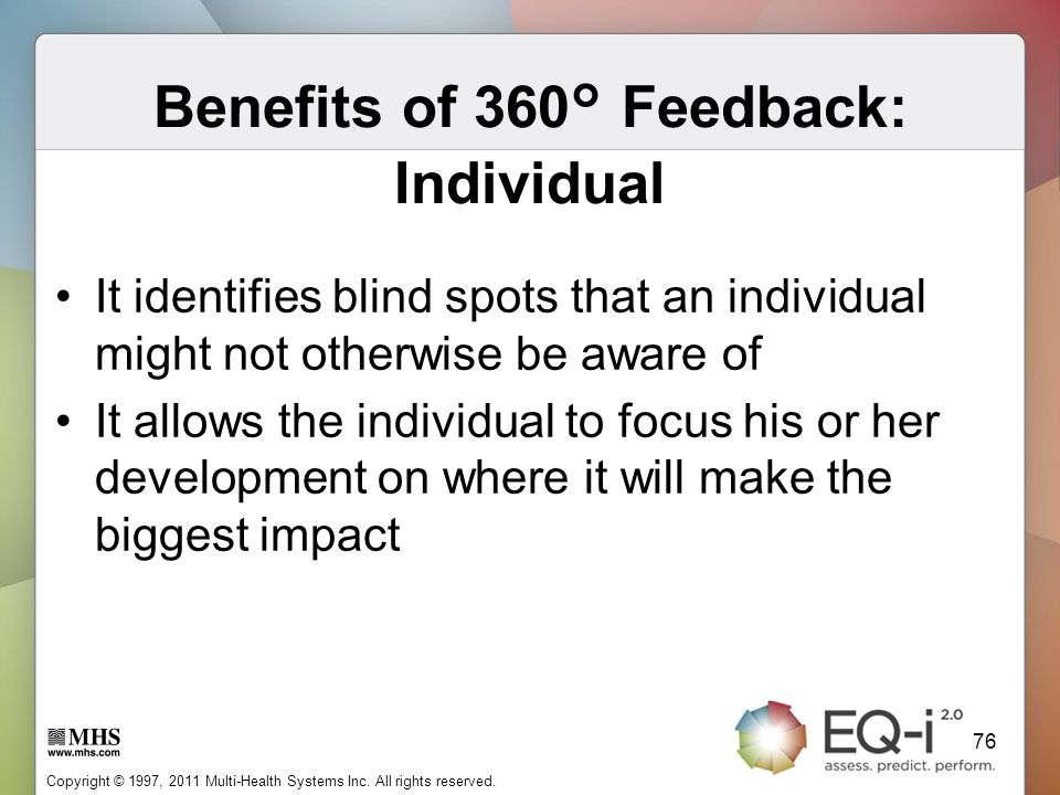 Benefits of 360° Feedback: Individual