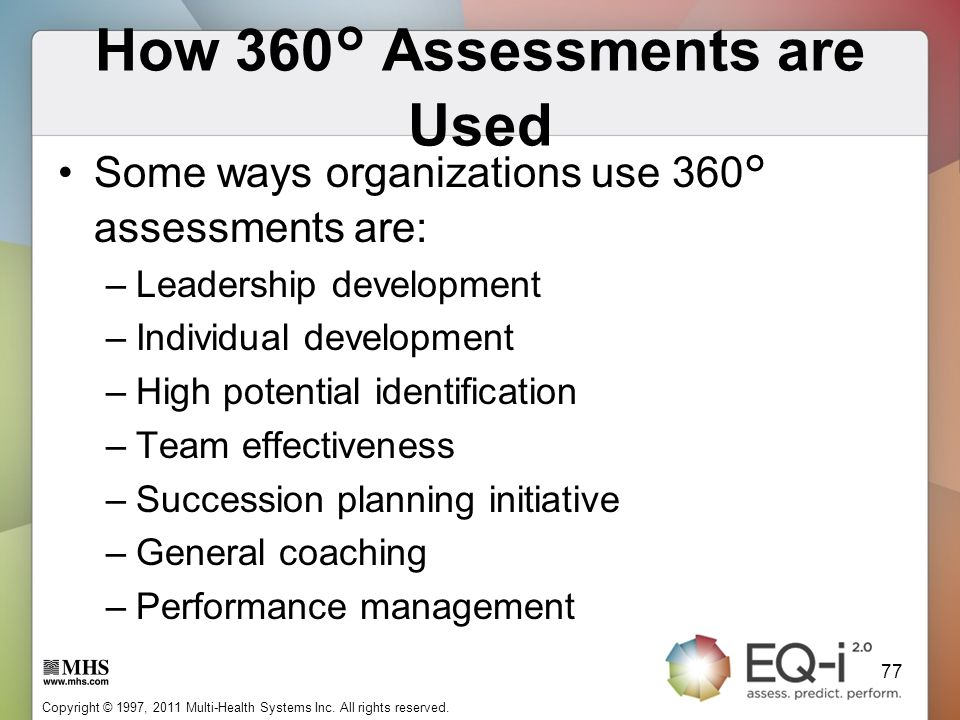 How 360° Assessments are Used