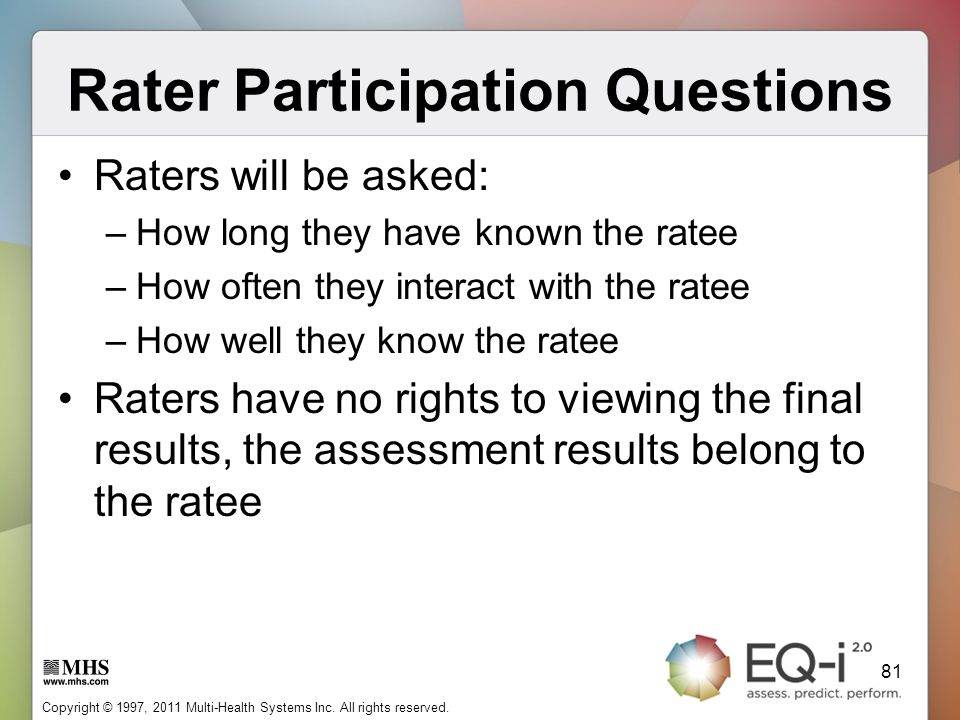 Rater Participation Questions