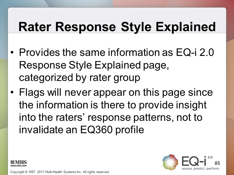Rater Response Style Explained