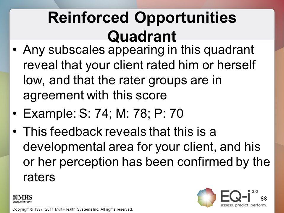 Reinforced Opportunities Quadrant