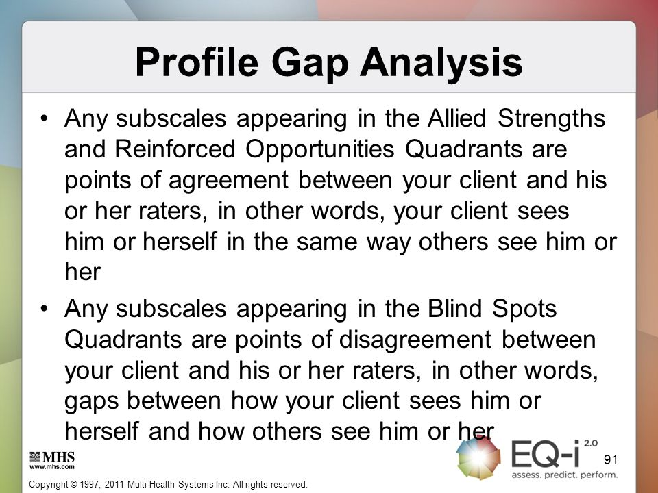Profile Gap Analysis