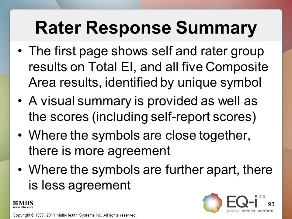 Rater Response Summary