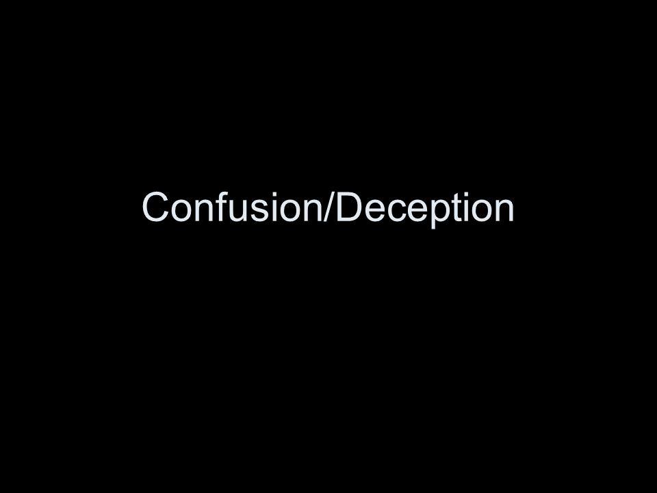 Confusion/Deception