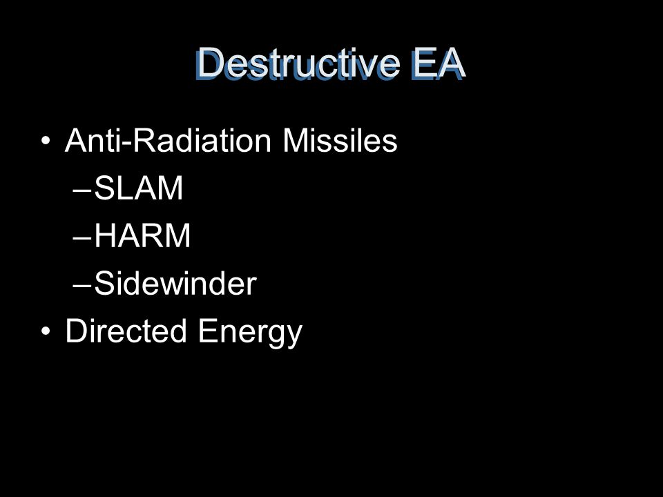 Destructive EA Anti-Radiation Missiles SLAM HARM Sidewinder