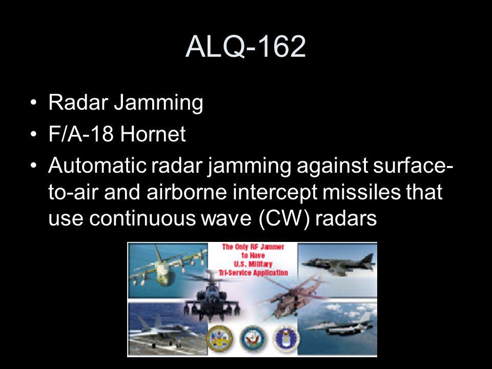 ALQ-162 Radar Jamming F/A-18 Hornet