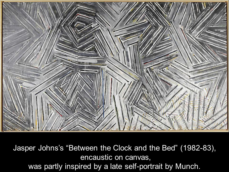 Jasper Johns's Between the Clock and the Bed ( ),