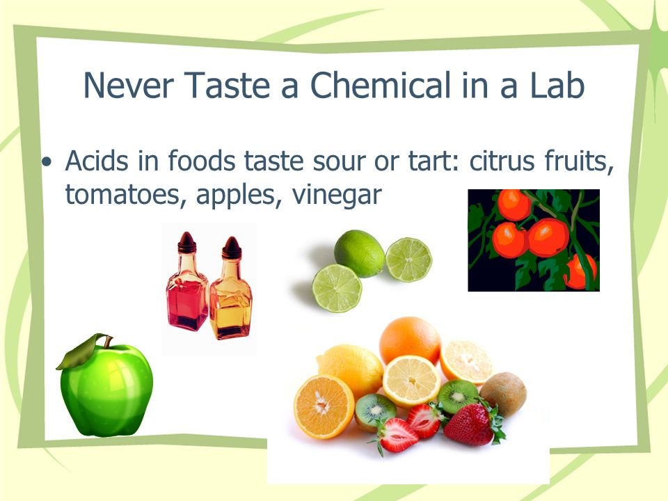 Never Taste a Chemical in a Lab