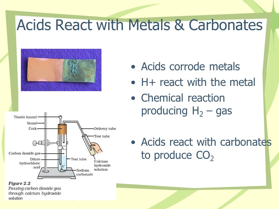 Acids React with Metals & Carbonates