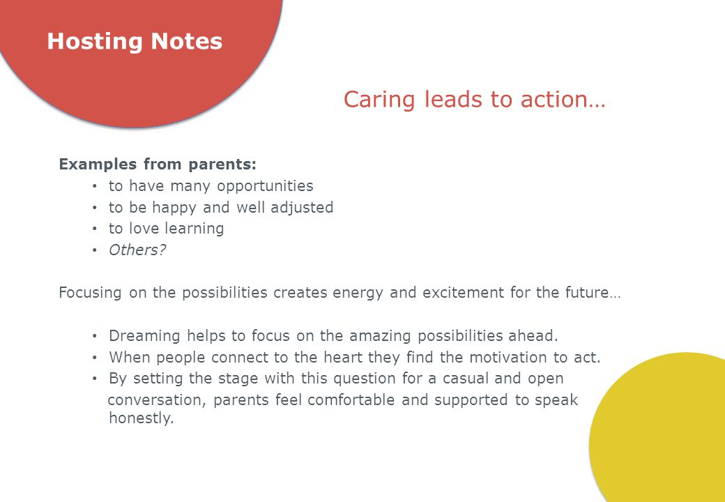 Caring leads to action…
