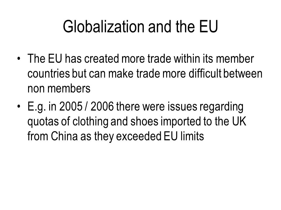 Globalization and the EU