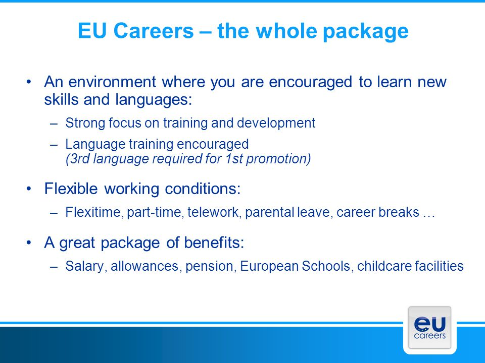 EU Careers – the whole package