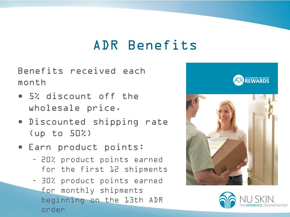 ADR Benefits Benefits received each month