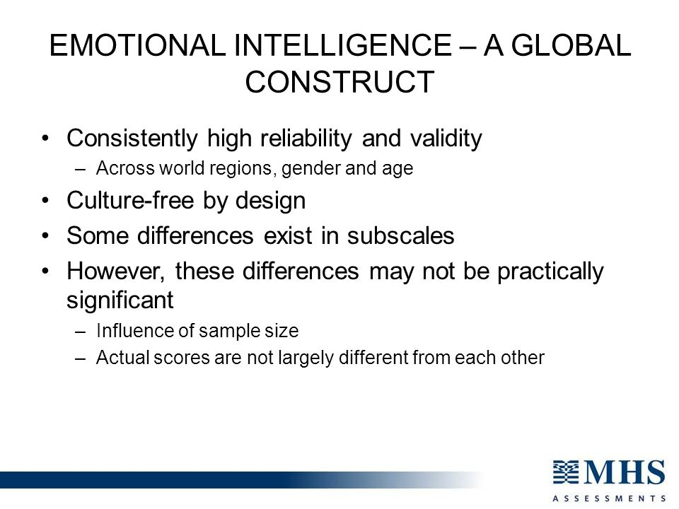 Emotional Intelligence – A Global Construct