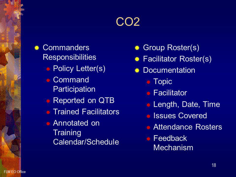 CO2 Commanders Responsibilities Policy Letter(s) Command Participation
